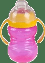 CANPOL Babies Hrníček sněhulák s úchyty- růžový 280 ml
