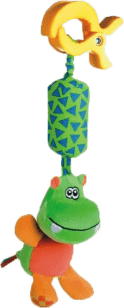 CANPOL Babies Plyšové hrkálka s klipom hroch