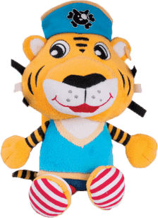 CANPOL Babies Plyšové chrastítko PIRÁTI- tygr