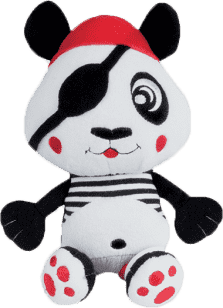 CANPOL Babies Plyšové hrkálka vibračné PIRÁTI- panda