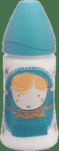 SUAVINEX Butelka z szerokim otworem pp 270 ml lateksowy ustnik – chłopczyk