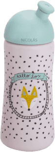 SUAVINEX Tretia - fľaša so športovým náustkom + 18m hello fox - modrá