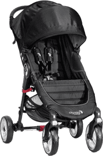 BABY JOGGER Kočárek City Mini 4 kola - Black/Gray