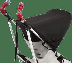 CITYGRIPS Osłonki na rączki wózka. Zig zag colour - podwójna rączka