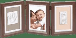 BABY ART Ramka z odciskiem Double Print Frame Brown & Taupe / Beige