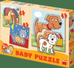 DINO Baby Puzzle Zvieratká