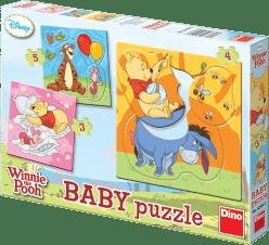 DINO Baby Puzzle Kubuś Puchatek