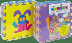 HM STUDIO Puzzle piankowe - Zwierzęta/owoce/cyfry