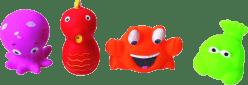 LUDI Hračky do vody mořské potvůrky 4ks