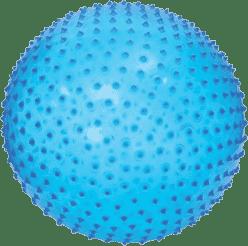 LUDI Skákacie a masážna lopta 45cm modrý