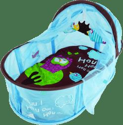 LUDI Cestovná postieľka pre bábätko Nomad modrá