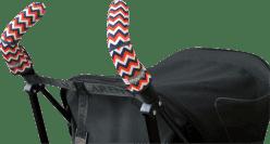 CITYGRIPS Osłonki na rączki wózka. Chevron Tri-Color - podwójna rączka