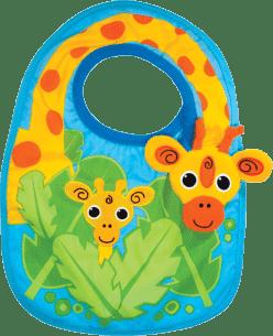 SASSY śliniaczek ze żyrafą dla chłopca