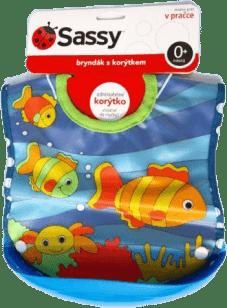 SASSY Podbradník s korýtkom mora-modrý