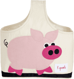 3 SPROUTS Taška na kojenecké potřeby Pig