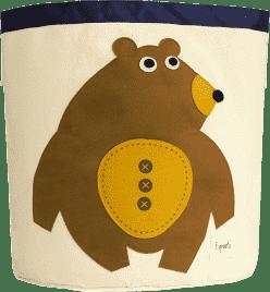 3 SPROUTS Kosz na zabawki Bear