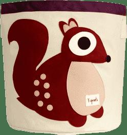 3 SPROUTS Koš na hračky Squirrel