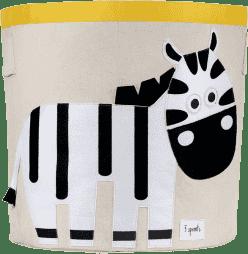 3 SPROUTS Koš na hračky Zebra