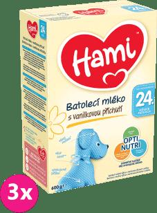 3x HAMI 4 Vanilka (600g) – dojčenské mlieko