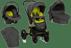 HAUCK Wózek trzyfunkcyjny King Air Trioset lime 2016