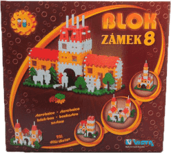 VISTA Stavebnice Blok 8 Zámek - plast 221ks