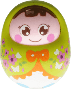 BABY'S HAPPINESS Bábika Rolly Polly – zelená