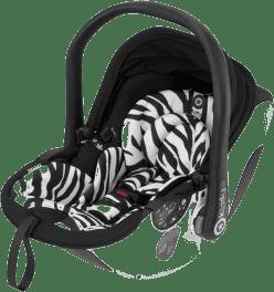 KIDDY Fotelik samochodowy evo-lunafix z bazą isofix 2 – Zebra (0-13kg)