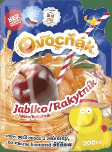 OVOCŇÁK Mušt jablko-rakytník 200ml - ovocná šťava