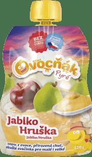 OVOCŇÁK Pyré jablko-hruška 120g - ovocné pyré