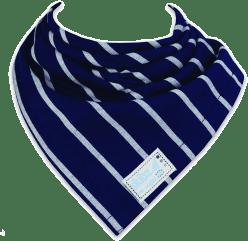 SKIBZ Bryndáček/slintáček tkaná bavlna French Stripe