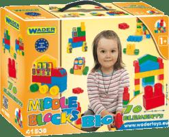 WADER Klocki budowla Middle Blocks zestaw Big plastik 75 szt. 1+