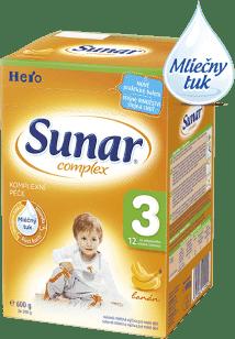 SUNAR Complex 3 BANÁN (600g) NOVÝ - dojčenské mlieko