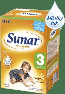 SUNAR Complex 3 VANILKA (600g) NOVÝ - dojčenské mlieko