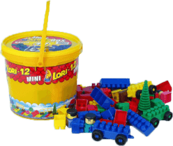 LORI Stavebnice LORI 12 - plast 82ks