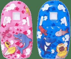 BESTWAY Dmuchany materac mały z plastikowymi uchwytami – różowy/niebieski, 99 x 51 cm