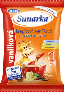 SUNARKA Krupicová vanilková kašička do mlíčka (150g) - nemléčná kaše
