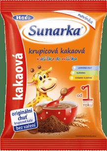 Sunarka nemliečna krupicová kaša s kakaom, 150g