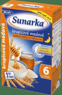Sunarka krupicová kašička s medom na dobrú noc mliečna 225g