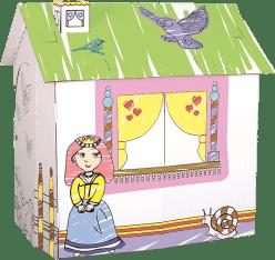 BINO Kartónový domček pre princeznú