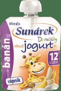 SUNÁREK Do ručičky s banány a jogurtem 80g - ovocný příkrm