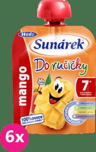 6x SUNÁREK Do ručičky mango 90g - ovocný príkrm