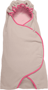 LODGER Zavinovačka Wrapper Motion Fleece – Baby Pink
