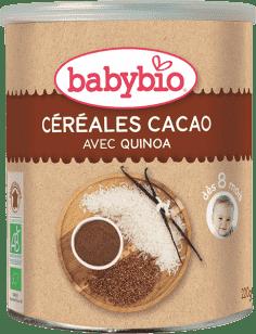 BABYBIO nemliečna rýžovoquinoová kaša s kakaom 220g