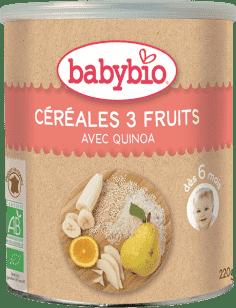 BABYBIO nemliečna rýžovoquinoová kaša s ovocím 220g