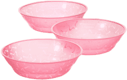 TOMMEE TIPPEE Misky 3 ks 6m+ Basic-růžová