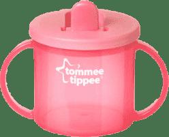 TOMMEE TIPPEE Hrneček dvouuchý pro nejmenší Basic-růžová