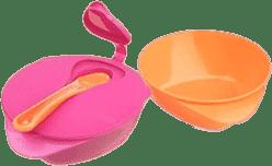 TOMMEE TIPPEE Misky pro snadné nabírání Explora 2 ks, s víčkem a lžičkou holka