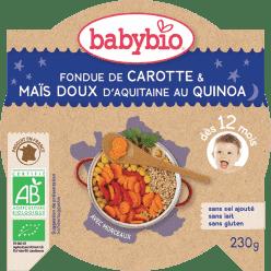 BABYBIO večerné menu mrkva a sladká kukurica s quinoa 230g