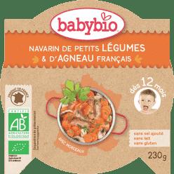 BABYBIO menu dusená zelenina s jahňacím mäsom 230g