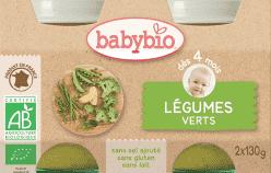 BABYBIO príkrm zelená zelenina 2x130g